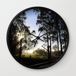 sunset trees Wall Clock