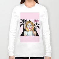 barbie Long Sleeve T-shirts featuring Golden Barbie by Kendal Blake