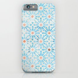 Hara Tiles Light Blue iPhone Case