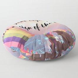 Harry Styles - rainbow flag Floor Pillow
