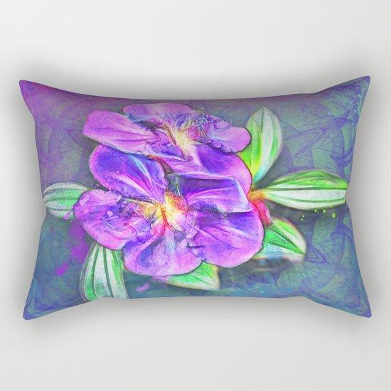 Abstract Lasiandra on textured kaleidoscope Rectangular Pillow