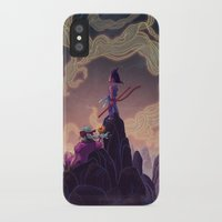 dragonball iPhone & iPod Cases featuring Dragonball - The Journey Begins by Kim Herbst