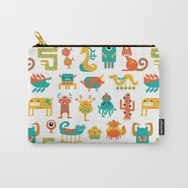 Colorful monster pattern Carry-All Pouch
