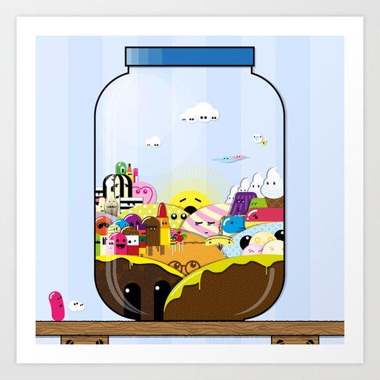 SF Sweet Jar Art Print