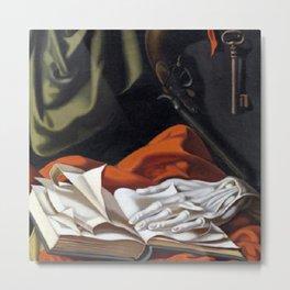 Still Life with Skeleton Key, Book, and Glove by Tamara de Lempicka Metal Print