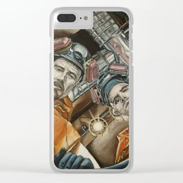 Heisenberg and Jesse, oil painting Clear iPhone Case