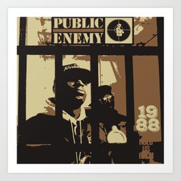 Public Enemy: 1988 Art Print