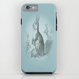 Bunny Rabbit {teal} iPhone Case
