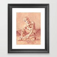 Giant Robot Framed Art Print