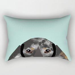 Doxie Dachshund merle dapple dog cute must have dog accessories dog gifts cute doxies dachshunds des Rectangular Pillow