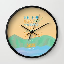 discover new oceans vintage Wall Clock