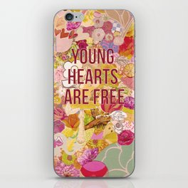 young hearts are free iPhone Skin