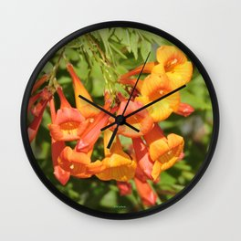 Natural Brass Blowing in the Breeze Wall Clock