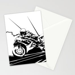 Motorcycle Race Stationery Cards