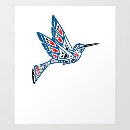 Hummingbird Pacific Northwest Native American Indian Style Art Art Print