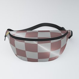 Rose gold and silver 8 by 8 chess board Fanny Pack