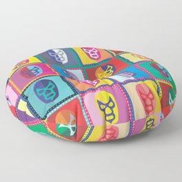 mascaras de luchadores II Floor Pillow