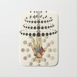 cycles by bedelgeuse - anatomical collage art Bath Mat