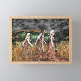 Maidens from the deep forest Framed Mini Art Print