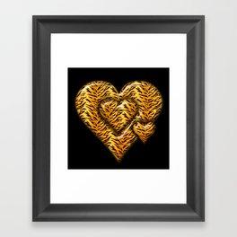 Cheetah Heart HD by JC LOGAN 4 Simply Blessed Framed Art Print