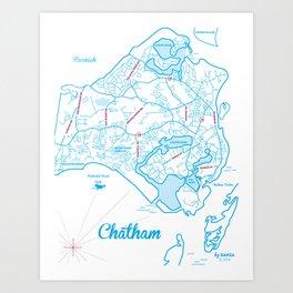 Chatham Map Art Print