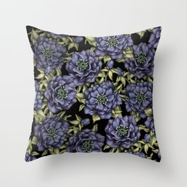 Roses in the Dark Throw Pillow