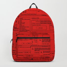 Designer Dialogues AI A Red Backpack