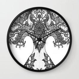 Unity of Halves - Life Tree - Rebirth - White Wall Clock