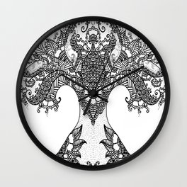 Unity of Halves - Life Tree - Rebirth - White Wall Clock
