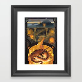 Beneath the Mountain Keep Framed Art Print