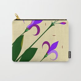 Lavenders and Violet Colored Lilies Carry-All Pouch