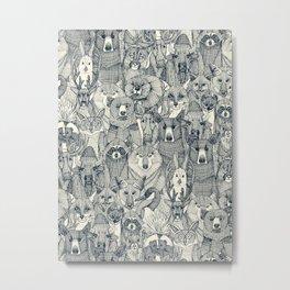 canadian animals indigo pearl Metal Print