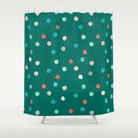 dots Shower Curtains featuring dots by Grace