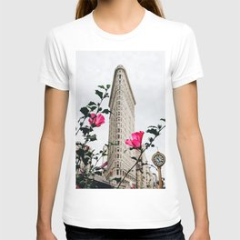 Pink Flowers in New York City (Color) T-shirt