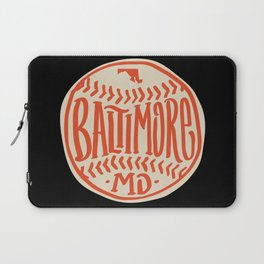 Hand Drawn Baseball for Baltimore with custom Lettering Laptop Sleeve