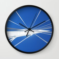 White Suspension Wall Clock