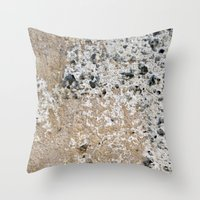 concrete Throw Pillows featuring Concrete by Herzensdinge