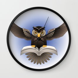 Brown Owl fly with the book Wall Clock