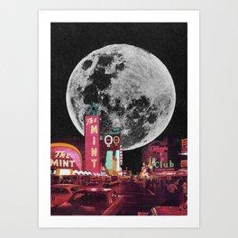 enter the moon  Art Print