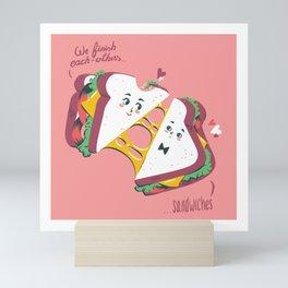 We Finish Each-Other's... Sandwiches Mini Art Print