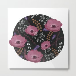 Anemones II: warm in circle Metal Print