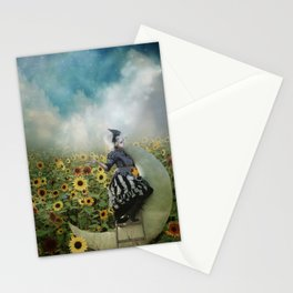 Sunflowers and Moon beams Stationery Cards