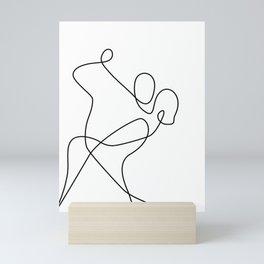 minimal line dance Mini Art Print