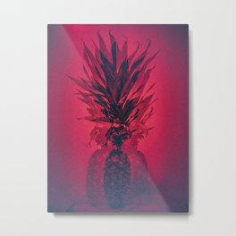 PINEAPPLE RED Metal Print