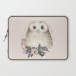Boho Illustration- Be Wise Little Owl Laptop Sleeve