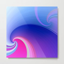 Ride the Wave (purple) Metal Print