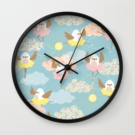 Dancing birds Wall Clock