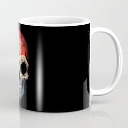 Dark Skull with Flag of The Netherlands Coffee Mug