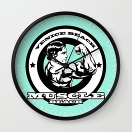 Venice Beach, Muscle Beach, California, LA, Gym, Arnold Wall Clock