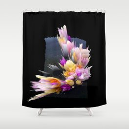 flowers 3d abstract digital painting Shower Curtain